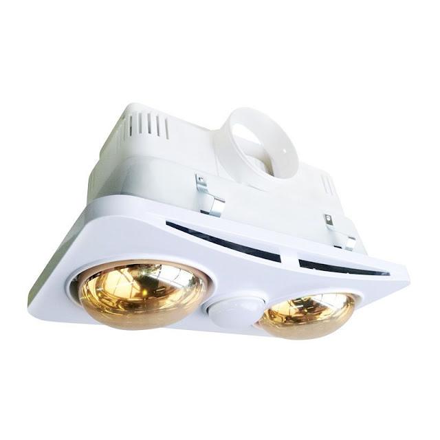 Đèn sưởi nhà tắm 2 bóng âm trần Braun Kohn BK02GR