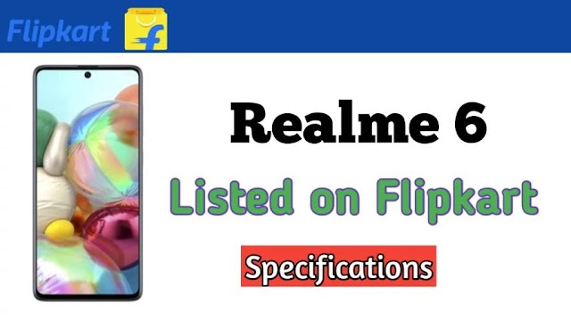 The Realme 6 is now listed on Flipkart Affiliate account.