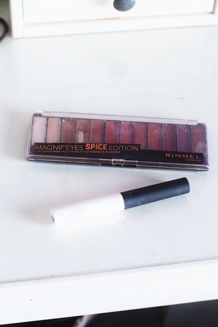 NARS Smudge Proof Eyeshadow Base, Rimmel Magnif'eyes Spice Edition