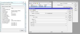 Konfigurasi IP Address router mikroti GNS3