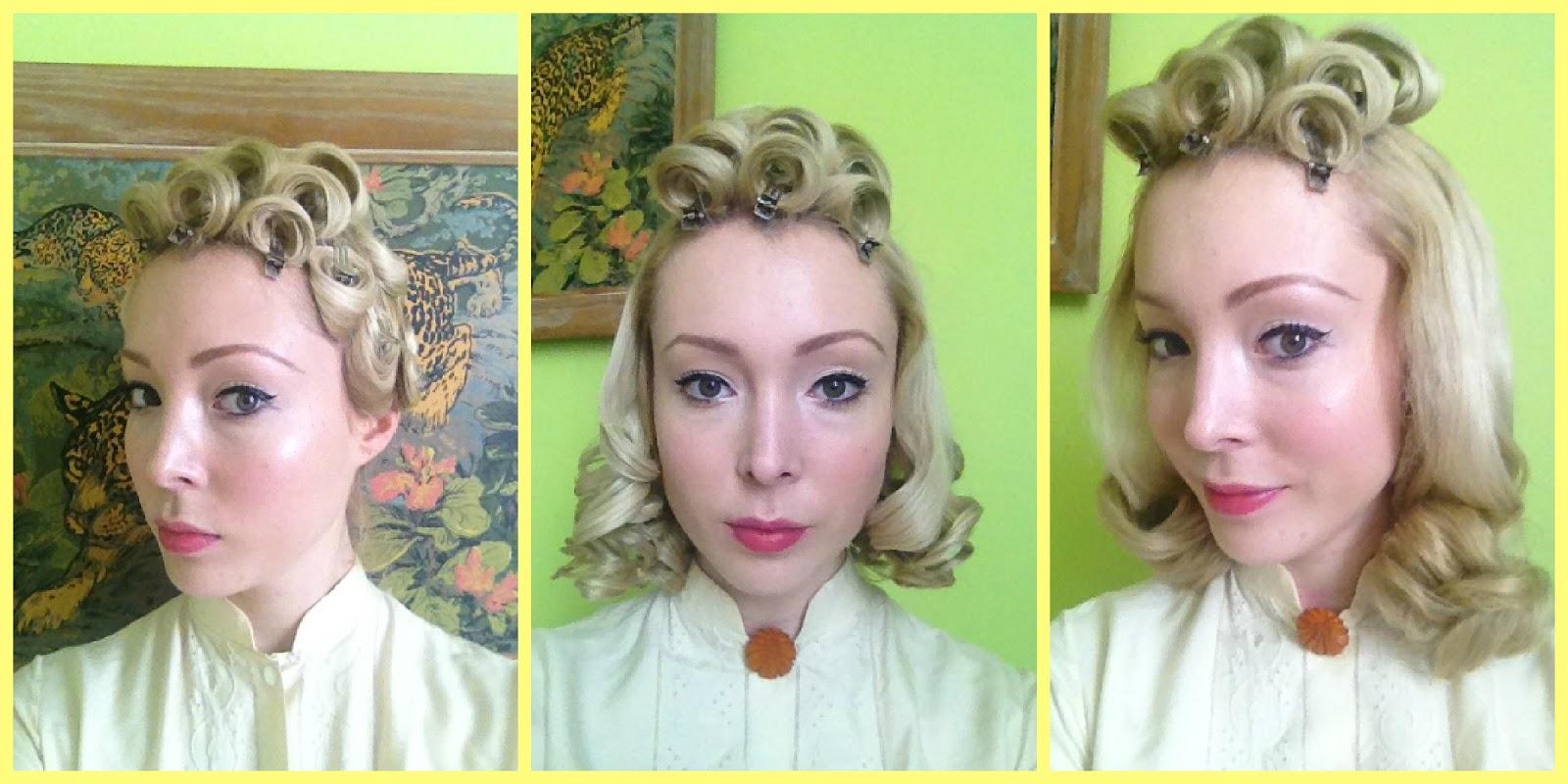 Astonishing The Vintage Minimalist Basic And Easy Pin Curl Set 1940S Short Hairstyles For Black Women Fulllsitofus