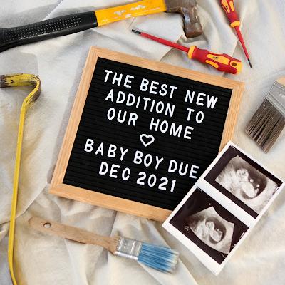 Baby Boy Pregnancy Announcement - Renovation Theme