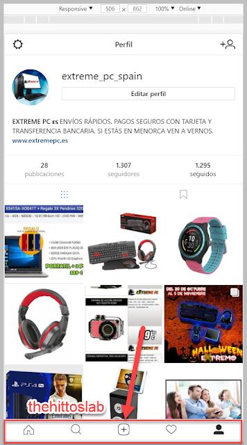 Instagram desde el PC Chrome
