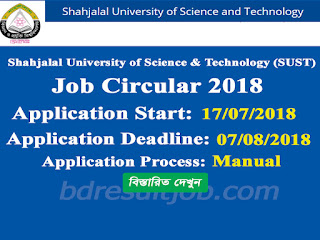 Shahjalal University of Science & Technology Job Circular 2018