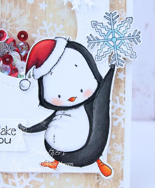 Heather's Hobbie Haven - Snowflake Penguin Card Kit