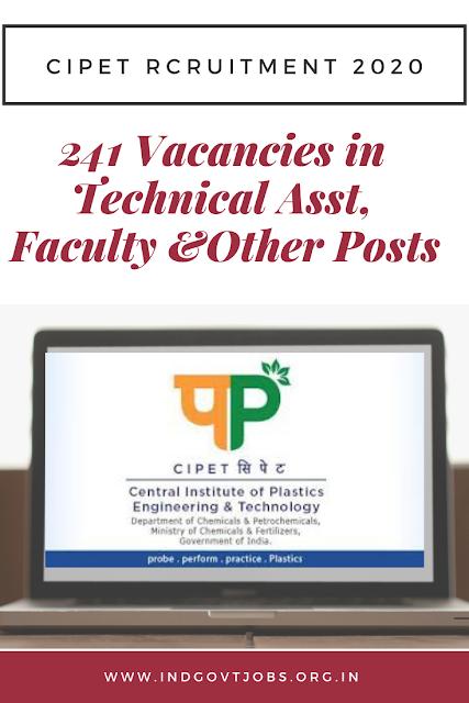 CIPET Rcruitment