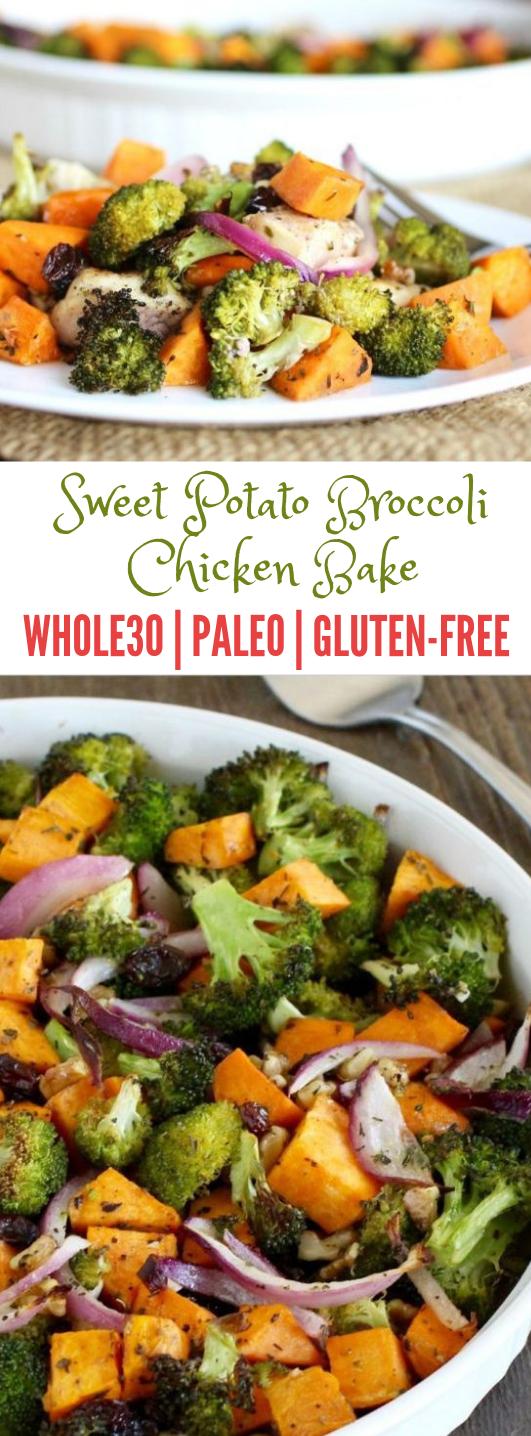Sweet Potato Broccoli Chicken Bake