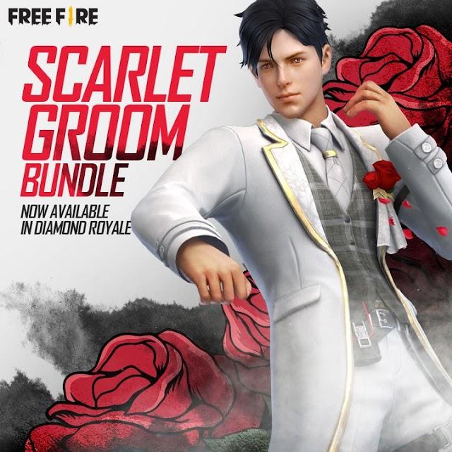 Scarlet Groom Bundle Redeem Code free fire Diamond Royale