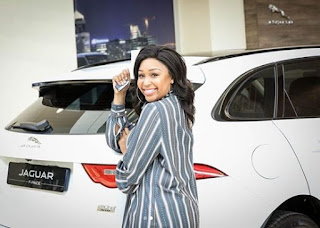 Photographs: Minnie Dlamini joins the Jaguar family and gets new ride