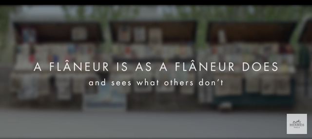 Hermès's 2015 Theme: The Flâneur. But What Is It Really?