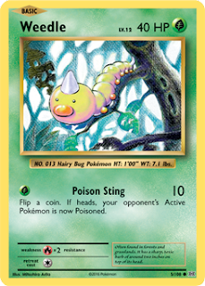 Weedle Evolutions Pokemon Card Review