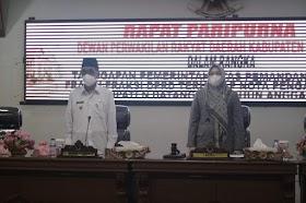 Wabup Batanghari Hadiri Paripurna DPRD Terhadap Nota Pengantar LKPD Kabupaten Batanghari 2020