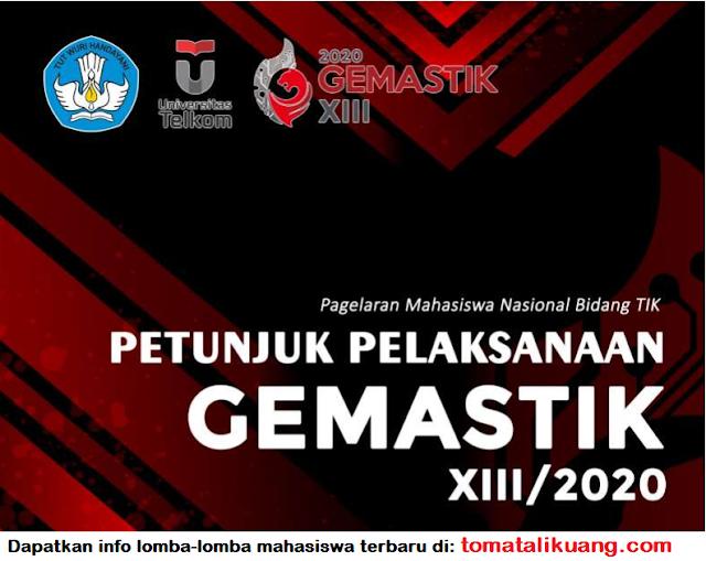 gemastik xiii 2020; download petunjuk pelaksanaan pagelaran mahasiswa nasional bidang teknologi informasi dan komunikasi ke-13 tahun 2020 pdf tomatalikuang.com