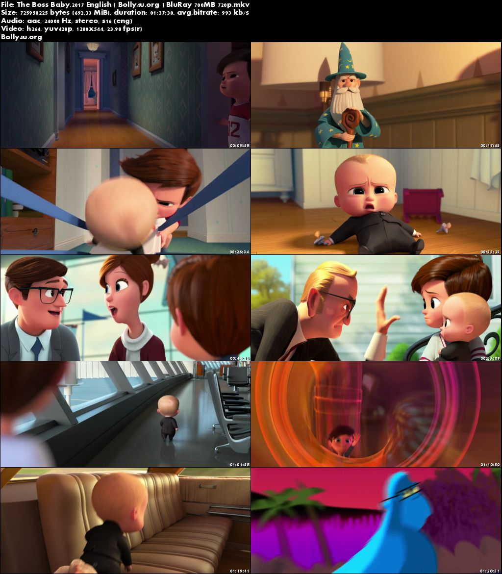 The Boss Baby 2017 BluRay 700MB English 720p Download