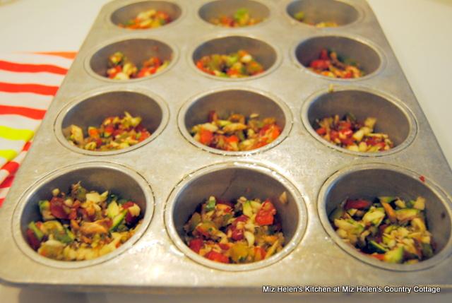 Mini Garden Frittatas at Miz Helen's Country Cottage