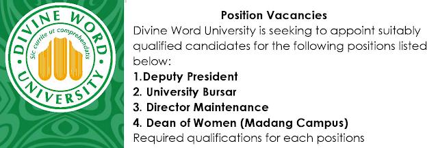 jobs at Divine Word University DWU