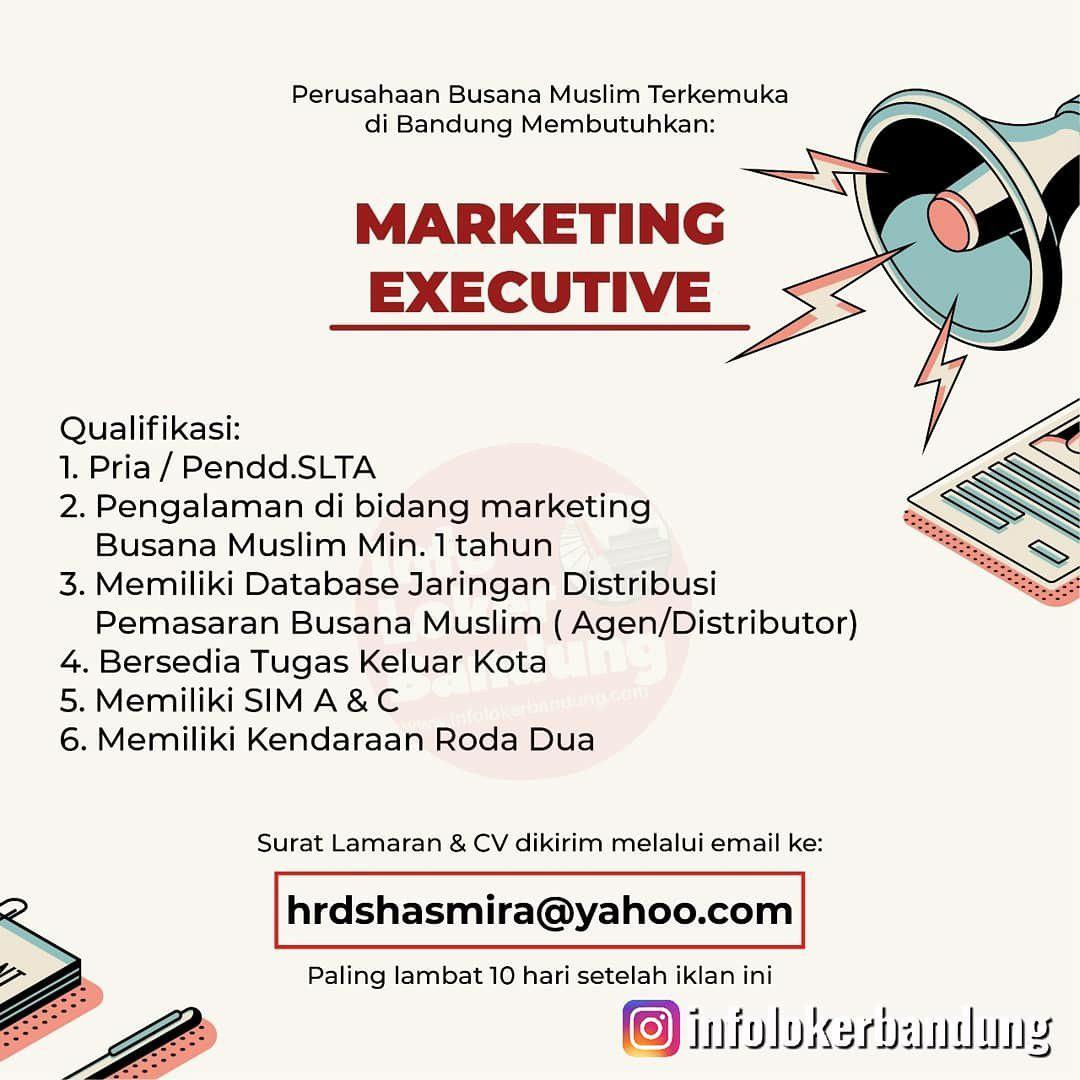 Lowongan Kerja Marketing Executive Bandung September 2019