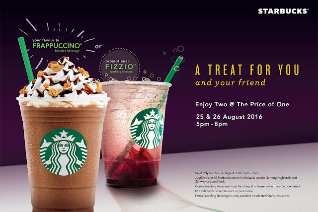 Starbucks Malaysia Buy One Free One Frappuccino Promo