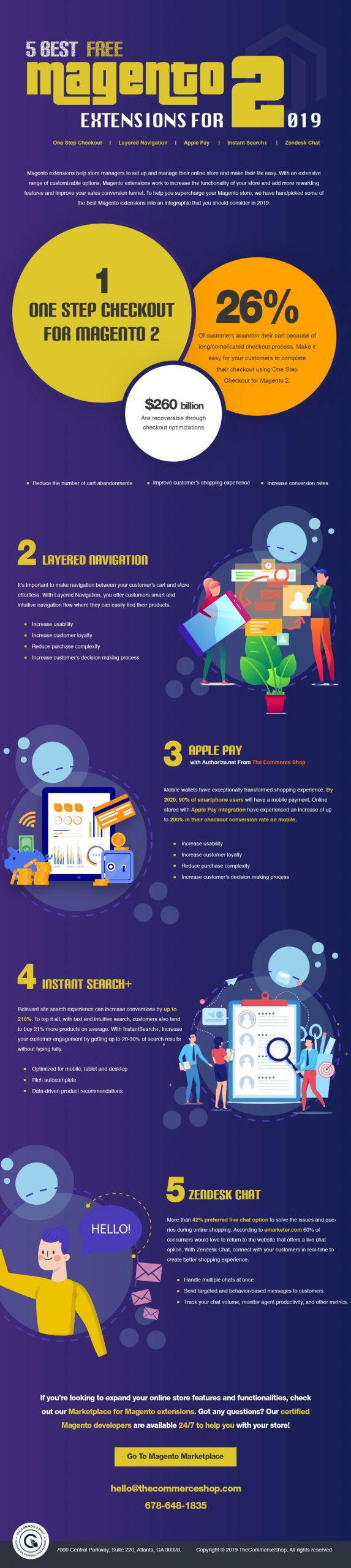 5 Best Free Magento 2 Extensions For 2019 # Infographic