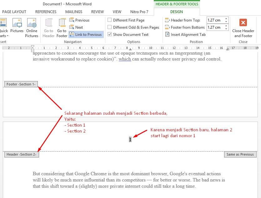 Cara Membuat Halaman Di Word Semua Model Format Praktek Pakar Dokumen