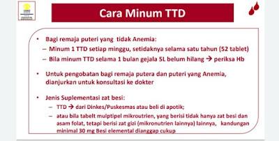 cara minum TTD