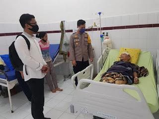 Kapolres Bersama Kasat Reskrim Polres Labuhanbatu Kunjungi Korban Penganiayaan di RSUD Rantauprapat