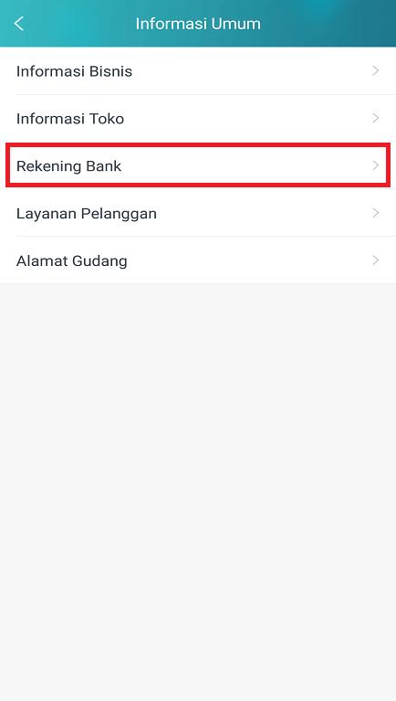 Opsi Rekening Bank Untuk Mengganti/ Menambahkan Rekening di Lazada SC.