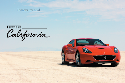 Ferrari California Owners Manual 2008 - 2013