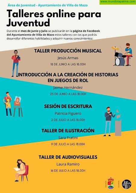 El Ayuntamiento de Villa de Mazo organiza talleres online gratuitos para jóvenes en verano