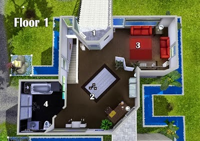 contoh rumah minimalis type 45 lantai 1 dan 2 | aku rumah