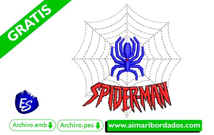 Dibujo Spiderman para bordar a máquina DESCARGA GRATIS hombre araña