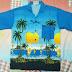 เสื้อฮาวายวินเทจ ลายทะเล ผ้า Cotton (ขายแล้ว)
