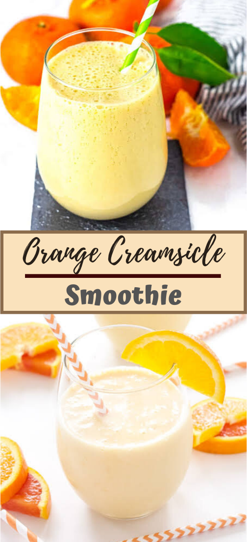 Orange Creamsicle Smoothie  #healthydrink #easyrecipe #cocktail #smoothie