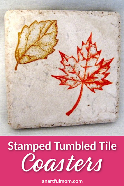 How to make stamped tumbled tile coasters