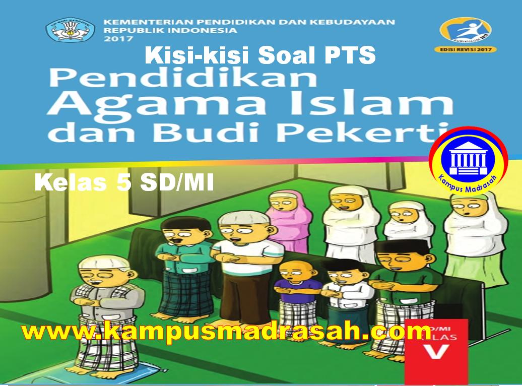 Kisi-kisi Soal PTS PAI Dan BP Kelas 5 SD