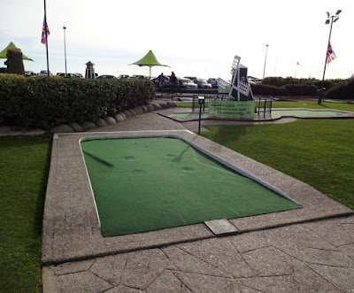 Hole 4 of the Crazy Golf course at Hastings Adventure Golf