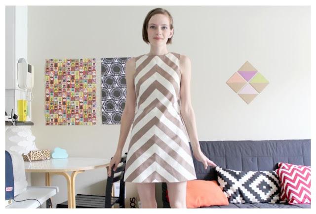Retro Modern Chevron Sleeveless Dress Tutorial