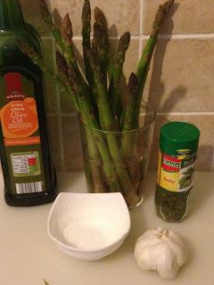 Revuelto de espárragos verdes, ingredientes