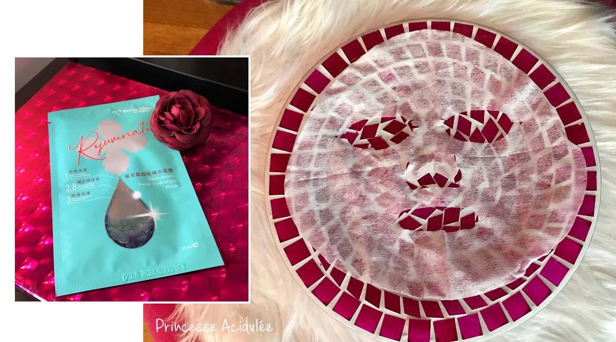 avis masque tissu rejuvenate My Beauty Diary