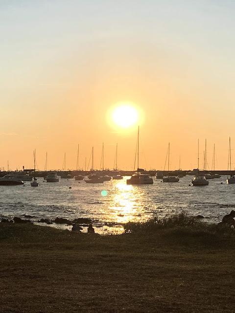 por do sol no porto