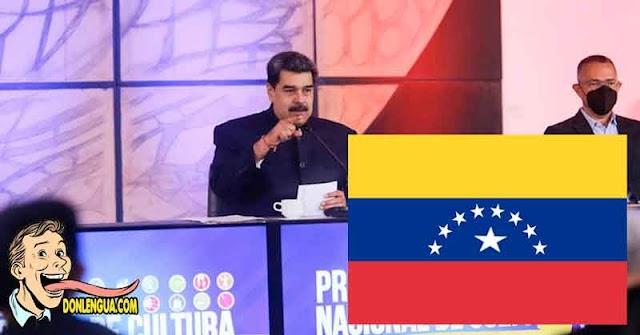 Maduro anuncia que le agregará la novena estrella a la Bandera de Venezuela