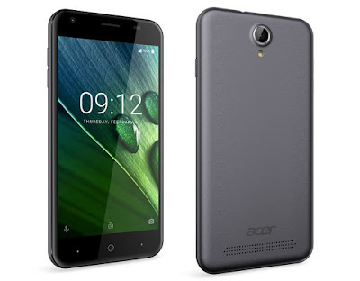 Acer Liquid Z6 Specifications - LAUNCH Announced 2016, August DISPLAY Type IPS LCD capacitive touchscreen, 16M colors Size 5.0 inches Resolution 720 x 1280 pixels (~294 ppi pixel density) Multitouch Yes BODY Dimensions - Weight - SIM Single SIM (Micro-SIM) or Dual SIM (Micro-SIM, dual stand-by) PLATFORM OS Android OS, v6.0 (Marshmallow) CPU Quad-core 1.25 GHz Cortex-A53 Chipset Mediatek MT6737 GPU Mali-T720MP2 MEMORY Card slot microSD Internal 8 GB, 1 GB RAM CAMERA Primary 8 MP, autofocus, LED flash Secondary 2 MP Features Geo-tagging, touch focus, face detection, HDR, panorama Video Yes NETWORK Technology GSM / HSPA / LTE 2G bands GSM 850 / 900 / 1800 / 1900 - SIM 1 & SIM 2 (dual-SIM model only) 3G bands HSDPA 4G bands LTE Speed HSPA, LTE GPRS Yes EDGE Yes COMMS WLAN Yes GPS Yes, with A-GPS USB microUSB v2.0 Radio FM radio Bluetooth Yes FEATURES Sensors Accelerometer, proximity Messaging SMS(threaded view), MMS, Email, Push Mail, IM Browser HTML5 Java No SOUND Alert types Vibration; MP3, WAV ringtones Loudspeaker Yes 3.5mm jack Yes BATTERY  Removable Li-Ion 2000 mAh battery Stand-by  Talk time  Music play -  MISC Colors Black, White  - MP3/WAV/AAC/Flac player - MP4/H.264 player - Photo/video editor - Document viewer