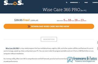 Giveaway : Wise Care 365 Pro gratuit pendant 5 jours !