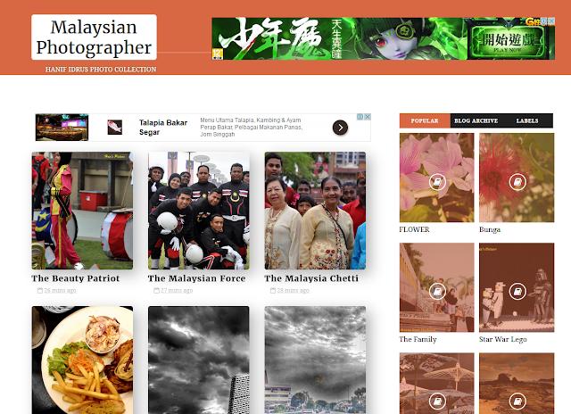 Blog Templates Baru Untuk Hanif Photography Blog