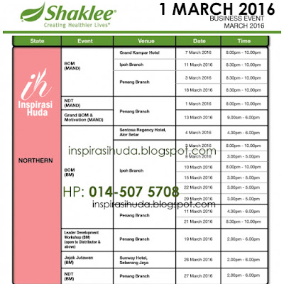 program shaklee, keusahawanan, mac 2016