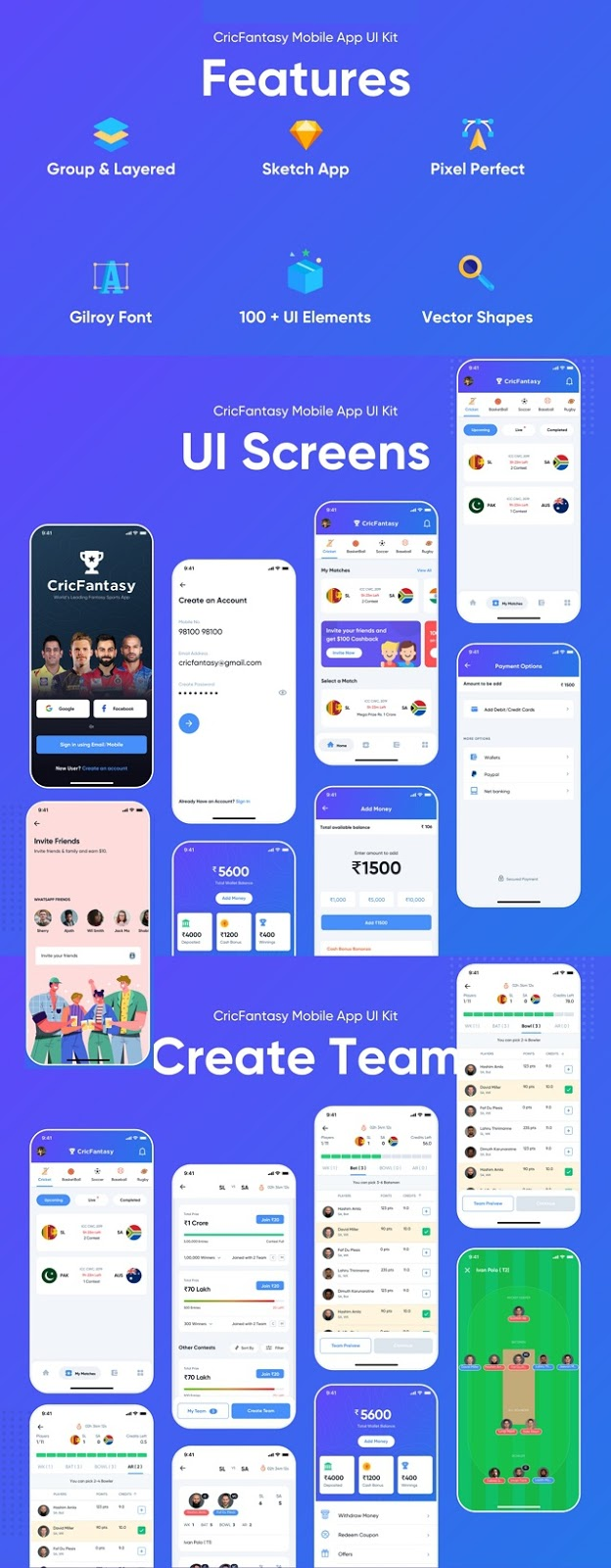 Best Sports Mobile App UI Kit
