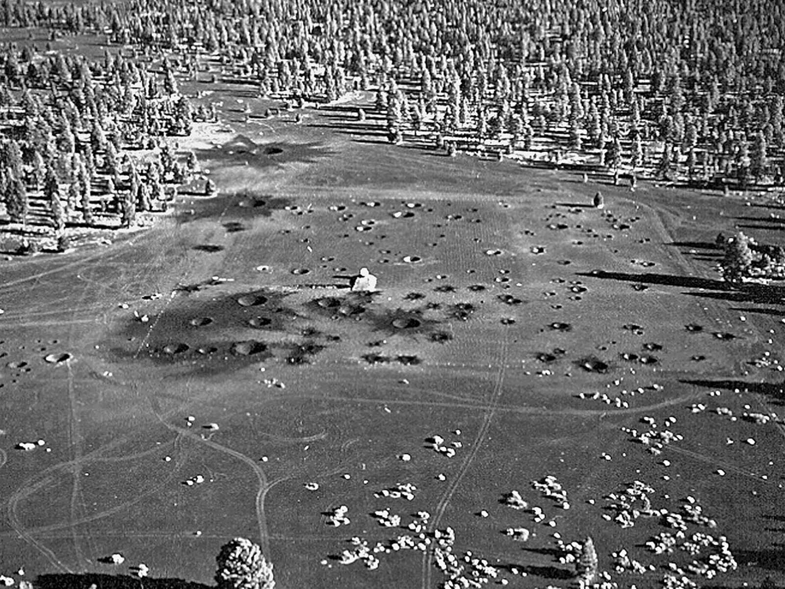 Cinder Lake Crater Field #1, photographed after an additional 96 craters were added in October 1967.
