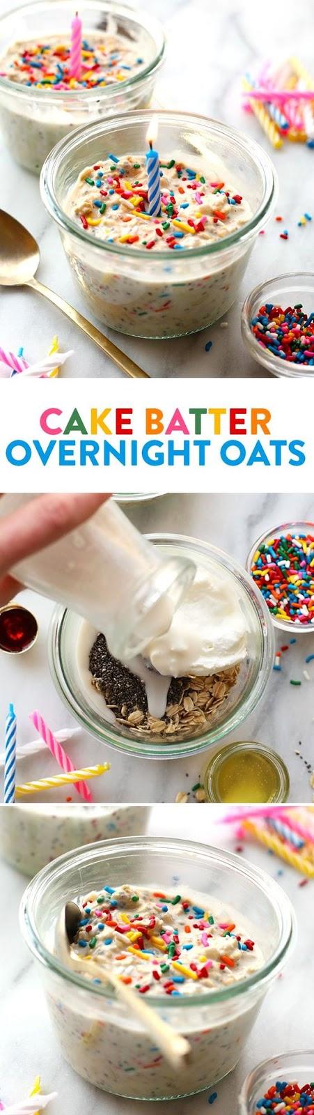 BIRTHDAY CAKE BATTER OVERNIGHT OATS
