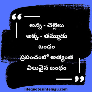Emotional Brother And Sister Quotes In Telugu