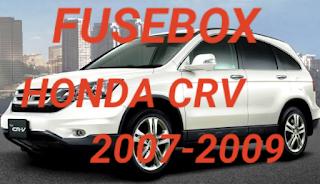 letak sekring mobil HONDA CRV 2007-2009